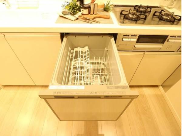 ビルトイン食洗機は、作業台が広く使え、見た目もスッキリ。節水や節電機能も充実、家事の手助けをしてくれます。