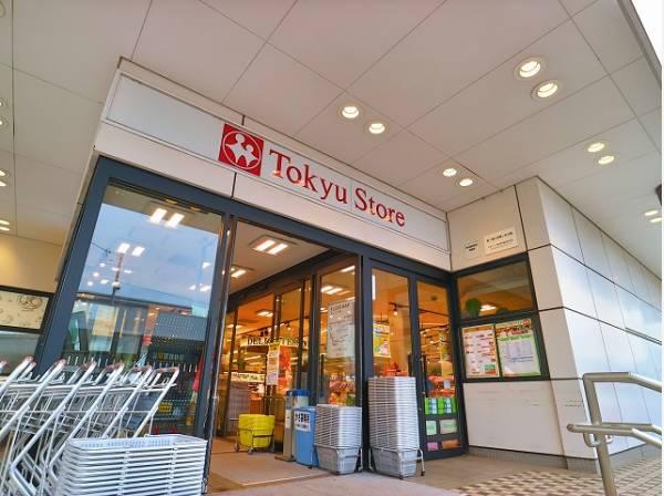 """東急ストア洗足店まで550m 東急グループ各線を中心としたスーパーマーケット。「安全と安心」を添えて""""より良い商品を、より安く""""お届けしています。"""