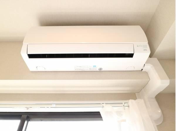 エアコン設置済みなので、入居時から快適にお過ごしいただけます。