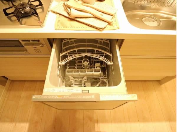 ビルトイン食洗機を採用。家事の時間短縮や効率アップ、節水にも威力を発揮します。