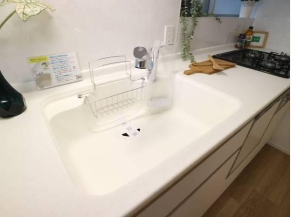 キレイなお水がいつでも、安心して飲める浄水器内蔵水栓。