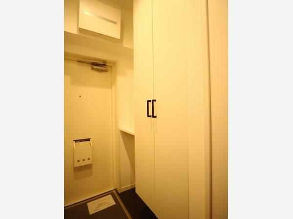 玄関扉を開けると広々としたスペースがあります。大容量のシューズクローゼットもあって、収納スペースも十分ですね。