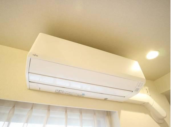 新規エアコンが設置済み。お引越し後すぐに快適なお部屋での生活が可能です。