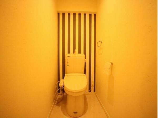 トイレの壁はアクセントクロスを採用。ただ暮らすだけでなく、快適さを求めて毎日気持ちの良い日々を。