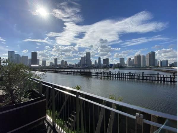 豊洲運河に面した立地。開放感溢れる眺めが日々の疲れを癒します。