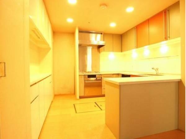 キッチンの背面にはカウンター収納をご用意いたしました。大容量の収納スペースは、食器やキッチン家電、食材などをスッキリと収納できます。