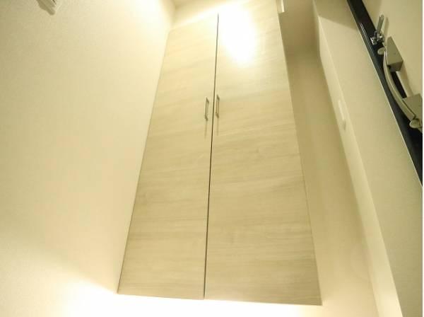 清潔感のある空間を保てるよう、収納スペース付き。玄関をスッキリ綺麗な空間に纏めます。